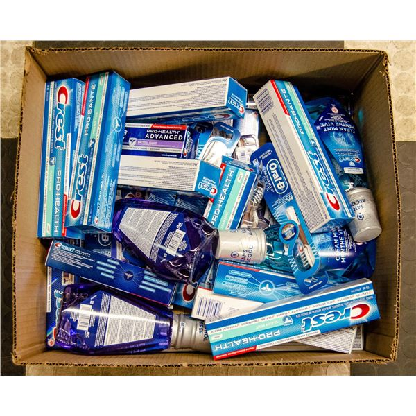 FLAT OF MOUTHWASH AND TOOTHPASTE LOT