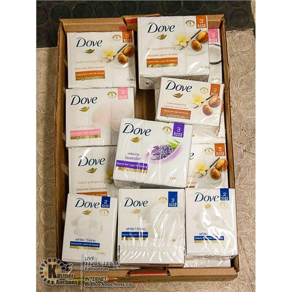 FLAT LOT OF DOVE BAR SOAP