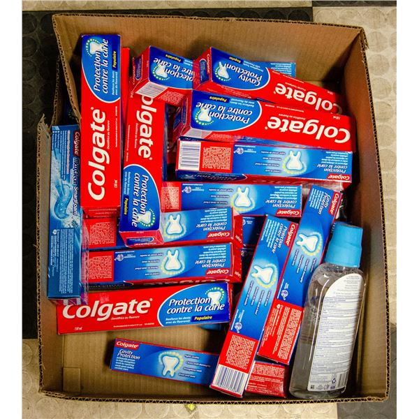 FLAT OF MOSTLY TOOTHPASTE LOT