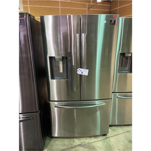 SAMSUNG RF28R6201SR/AA STAINLESS STEEL 28 CUBIC FT FRENCH DOOR BOTTOM FREEZER REFRIGERATOR WITH