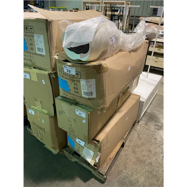 3 BOXES OF WHITE STORE DISPLAY MANNEQUIN PARTS
