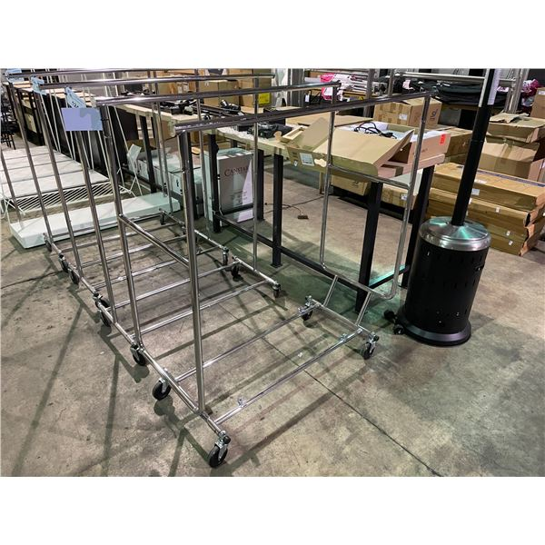 METAL MOBILE 2 POLE COMMERCIAL CLOTHING RACK