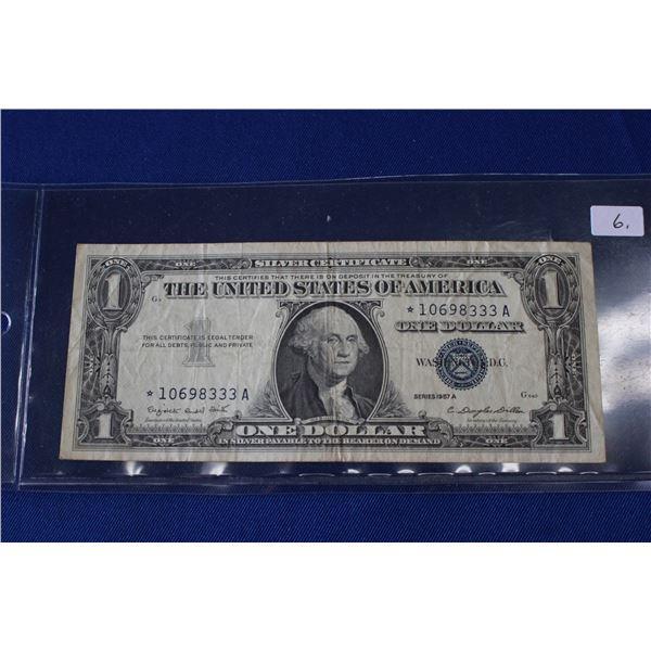 U.S.A. One Dollar Bill (1) - 1957A (Silver Certificate)