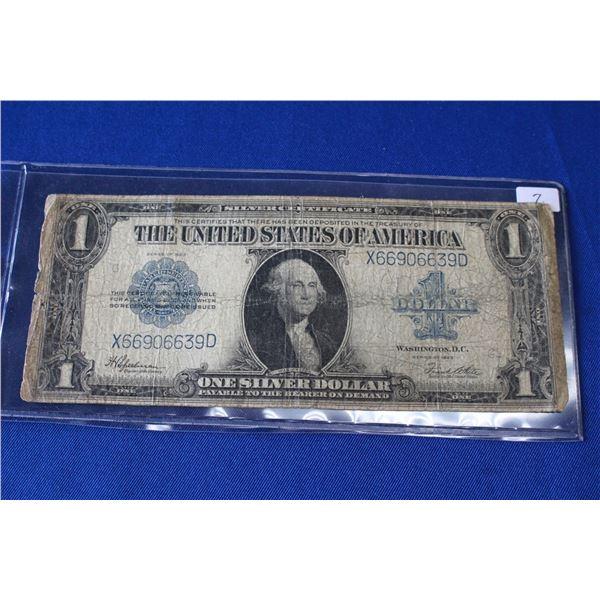 U.S.A. One Silver Dollar (Paper) (1) - 1923 (Silver Certificate)