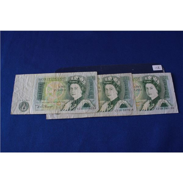 Bank of England One Pound Notes (3) - 1981 to 1984