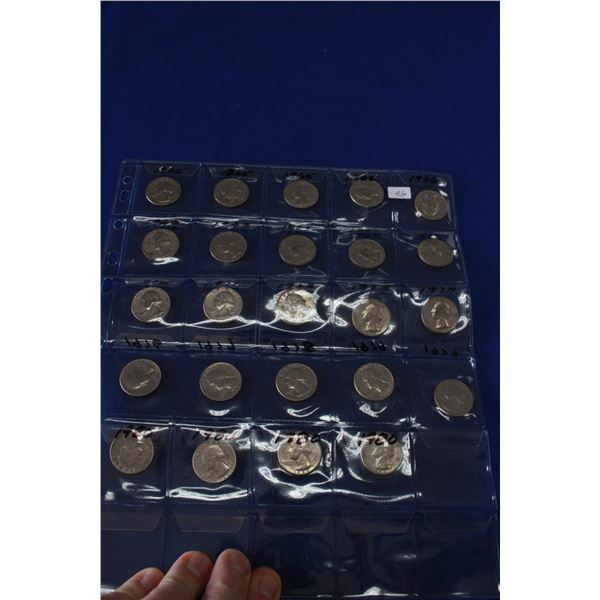 Collection of U.S.A. Quarters (24)