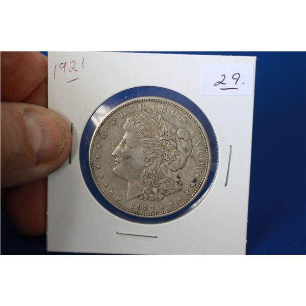 U.S.A. Morgan Dollar Coin (1) - 1921; 90% Silver