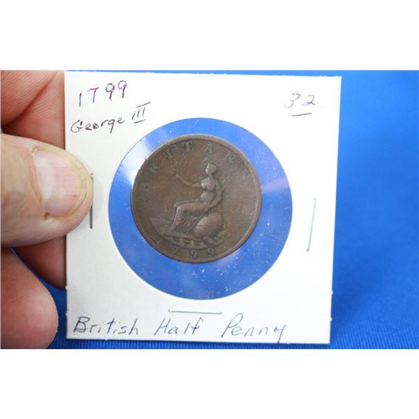British Half Penny (1) - 1799
