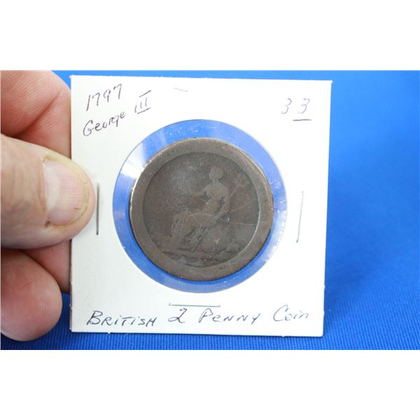 British Two Penny Coin (1) - 1797