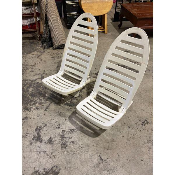 2 folding beach Chairs