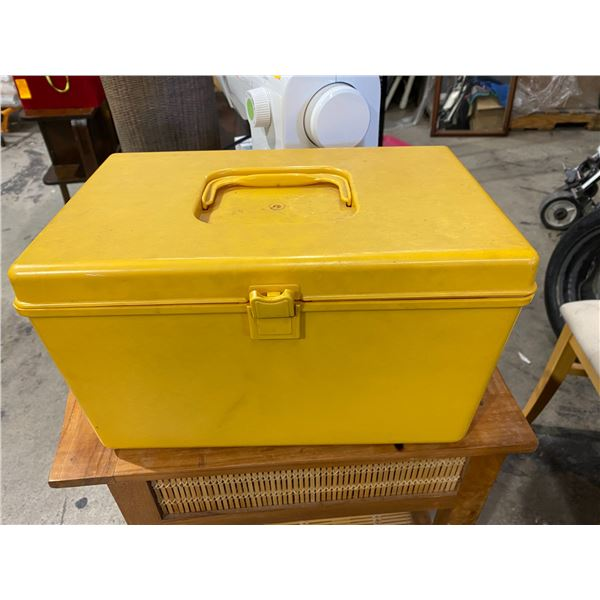 Vintage sewing container