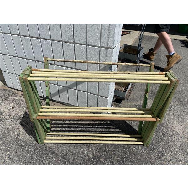 Rustic drying rack