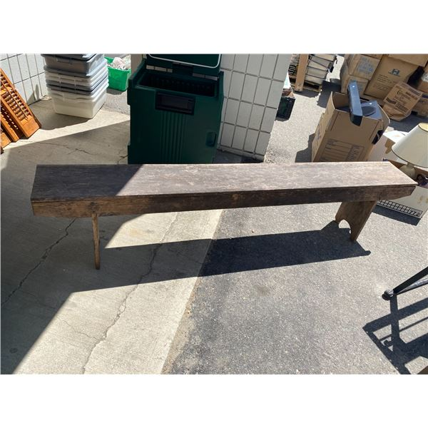 Rustic bench 81 inches long