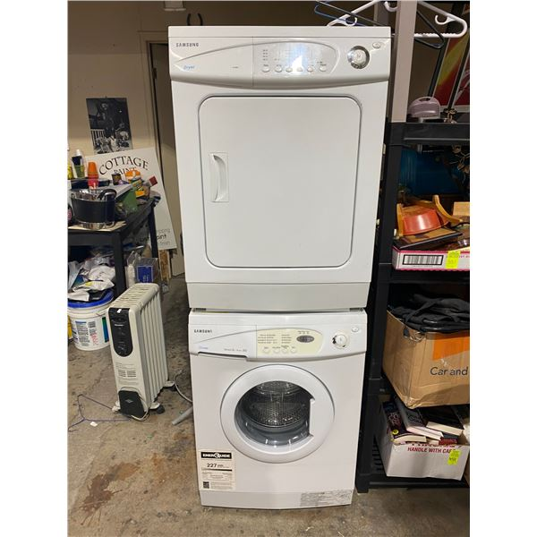 Stacking apartment size washer and dryer Samsung