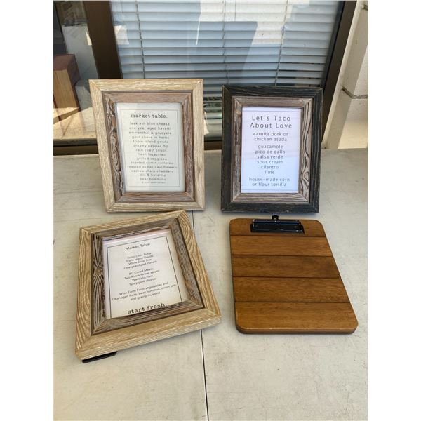 Frames and board