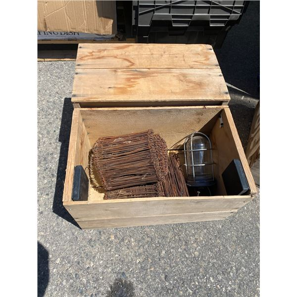 Wood crate and contents