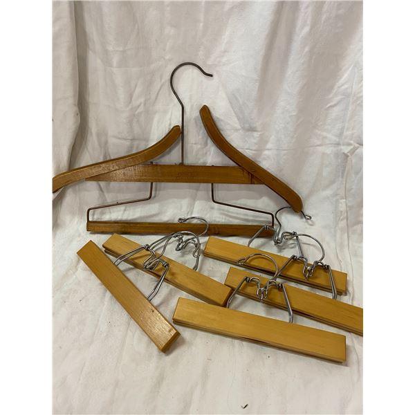Lot of pant hangers
