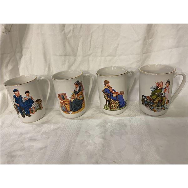 Norman Rockwell mug collection