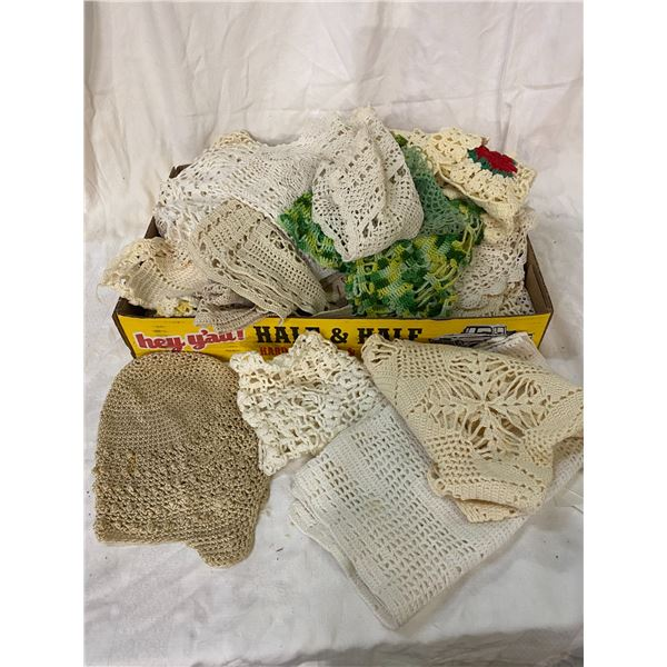 Lot of lace doilies