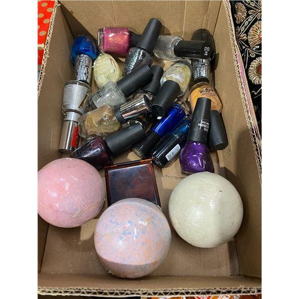 Bath bombs and nail polish