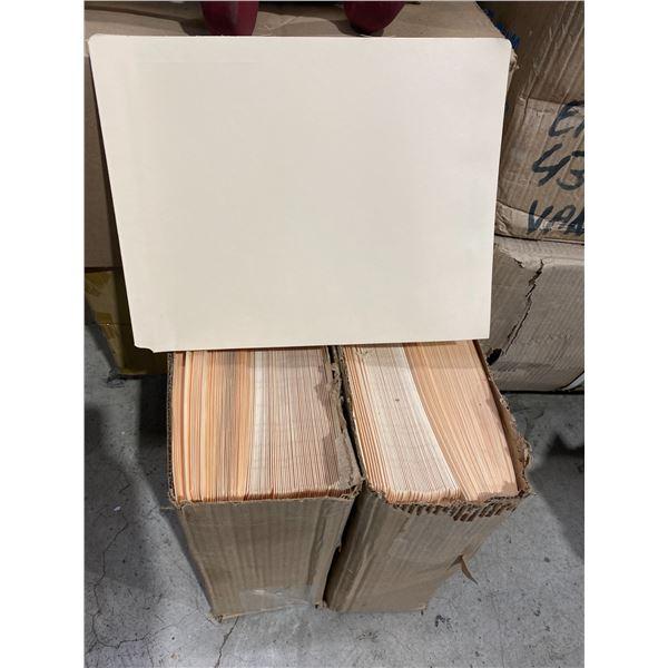2 boxes letter size folders