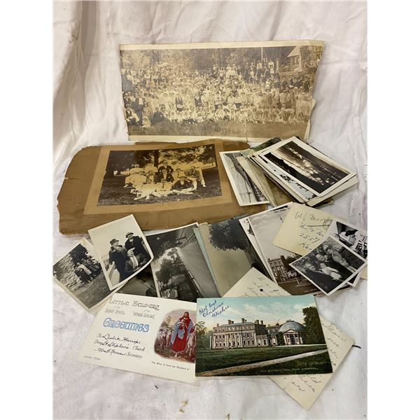 Lot of vintage photos