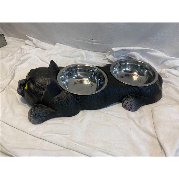 Cat dish cast iron