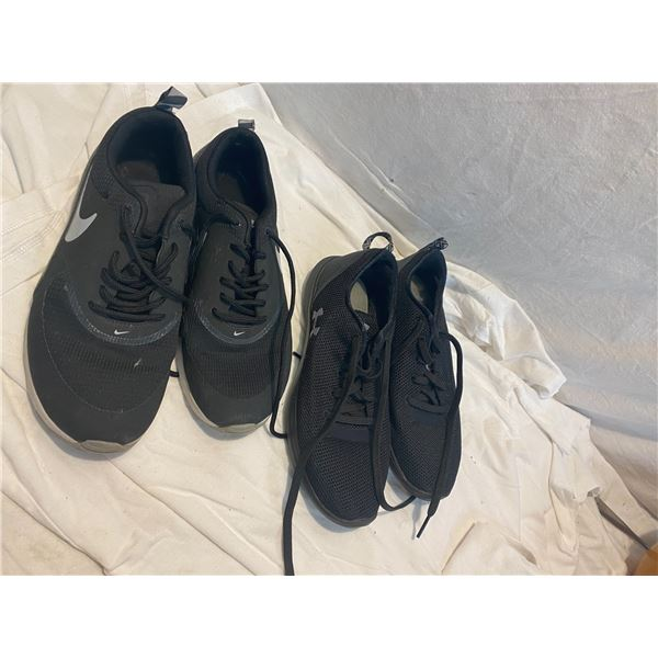 Nike size 7 under armour size 6.5