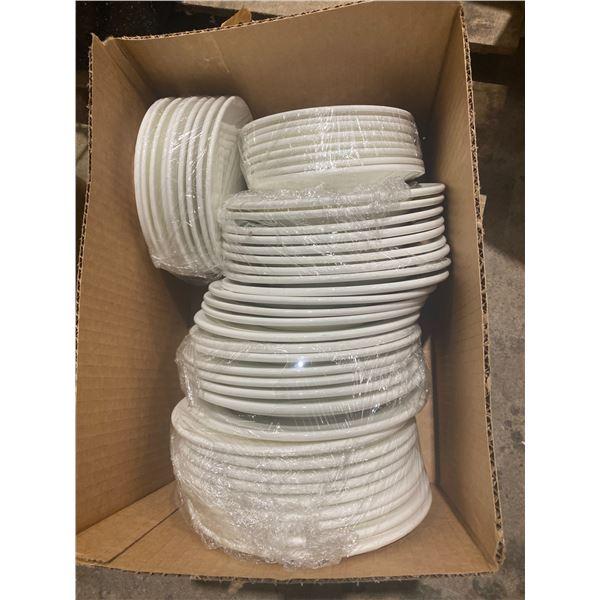 Lot white plates