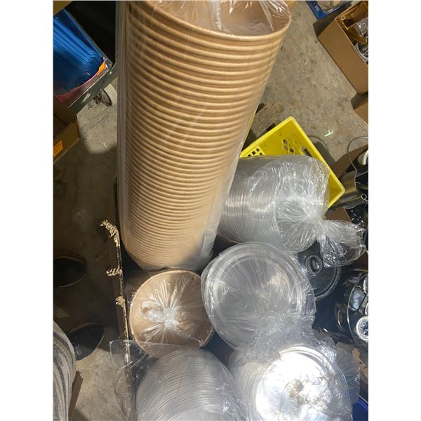 26oz paper food bowls abs lids