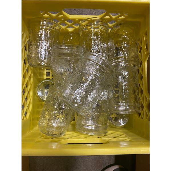 Crate  medium canning jars