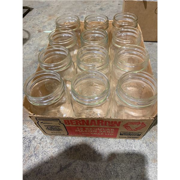 Case of small canning jars
