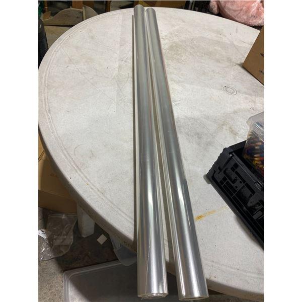 2rolls clear polypropylene