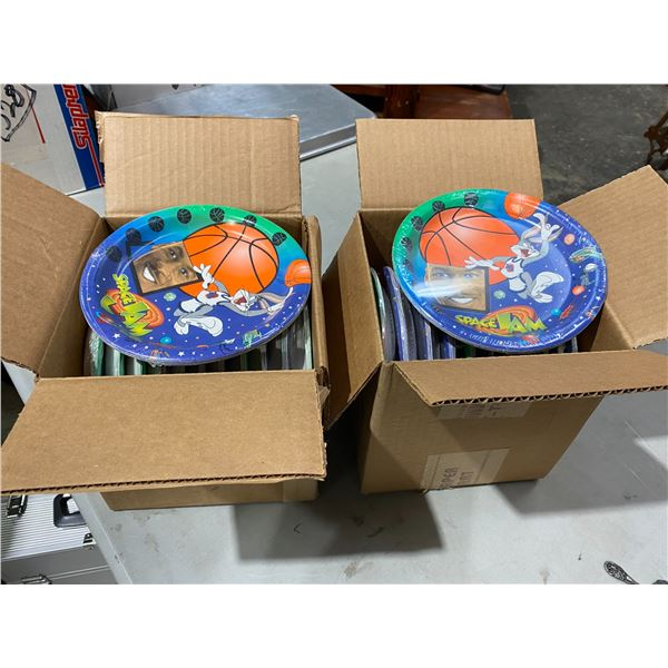 Two boxes space jam plates