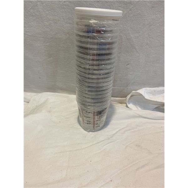 20 plastic measuring cups