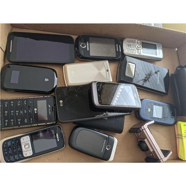 assorted cellphone lot flat repair
