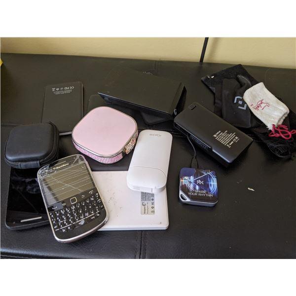 back up drives, batteries, phones, etc