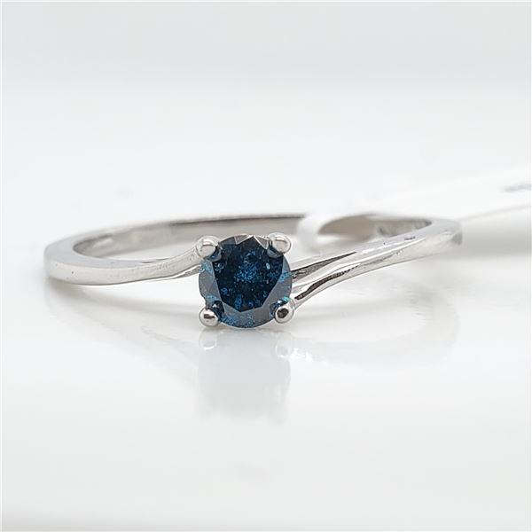 10K BLUE DIAMOND(0.23CT) RING SIZE 6