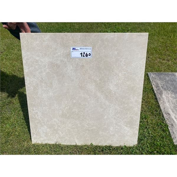 CREMA 2'X2' MARBLE TILES  19 PALLETS, APPROXIMATELY 48 PIECES PER PALLET **LOCATED IN RICHMOND**