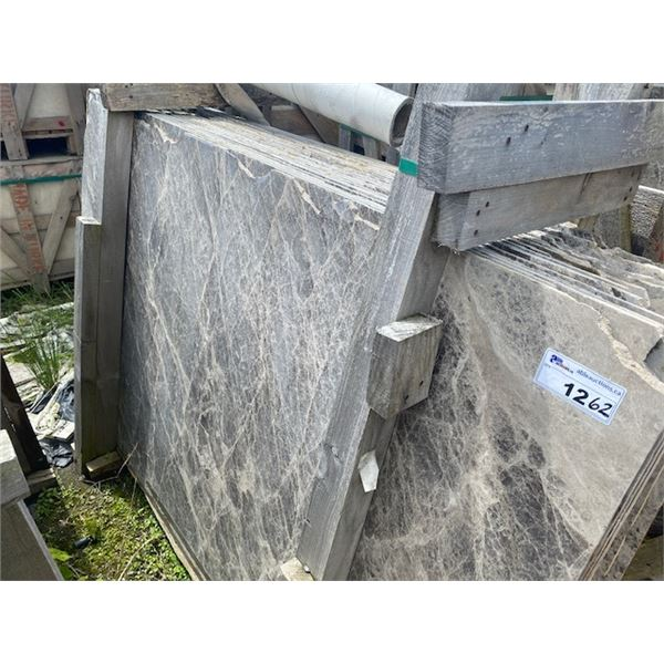 27 PIECES APPROXIMATELY, 4'X6' GREY MARBLE SLABS  **LOCATED IN RICHMOND**