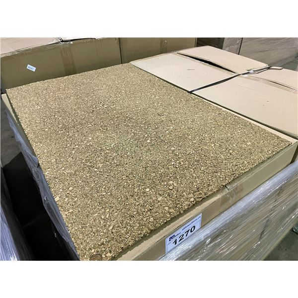 """PALLET OF 10 BOXES OF 36' X 24' SHEETS 1/4"""" UNFINISHED CORK WALL COVERING SOUND PROOFING / UNDERLAY"""