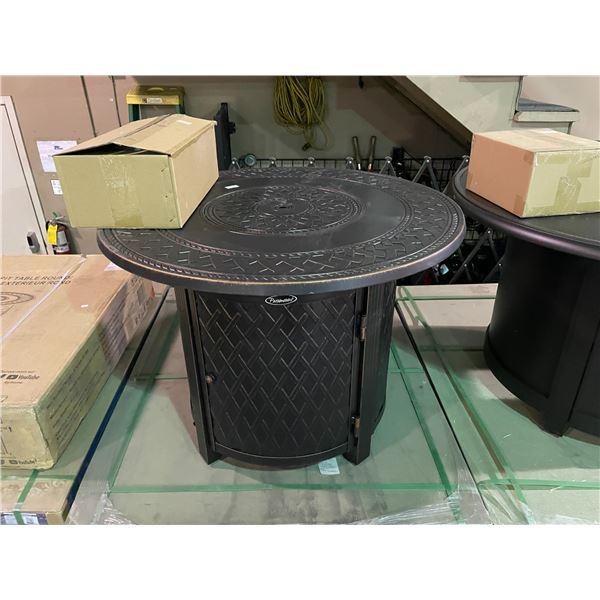 PARAMOUNT FP-398 BRONZE CAST ALUMINUM ROUND PROPANE OUTDOOR FIRE TABLE