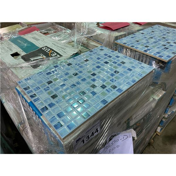 803.43 SQ FT OF LEXUS XCLUSIVE 34510-D DARK MULTI BLUE 450 X 300 CERAMIC WALL TILE