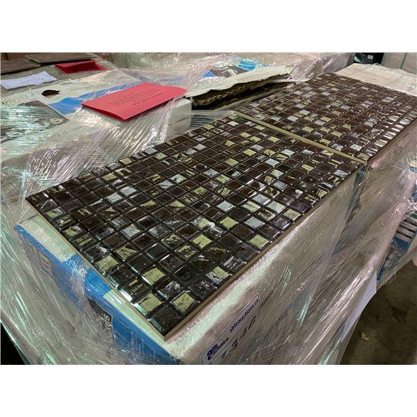 833.94 SQ FT OF LEXUS XCLUSIVE 34509-D DARK MULTI BROWN 450 X 300 CERAMIC WALL TILE