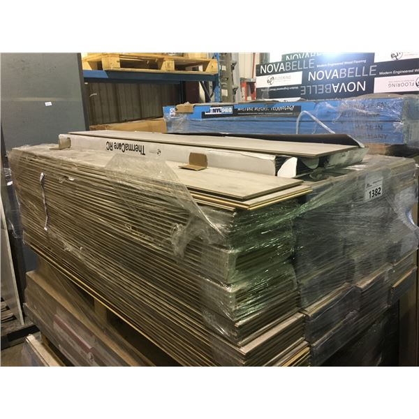 STACK OF ASSORTED COLOR & STYLE B-GRADE / DAMAGED FLOORING