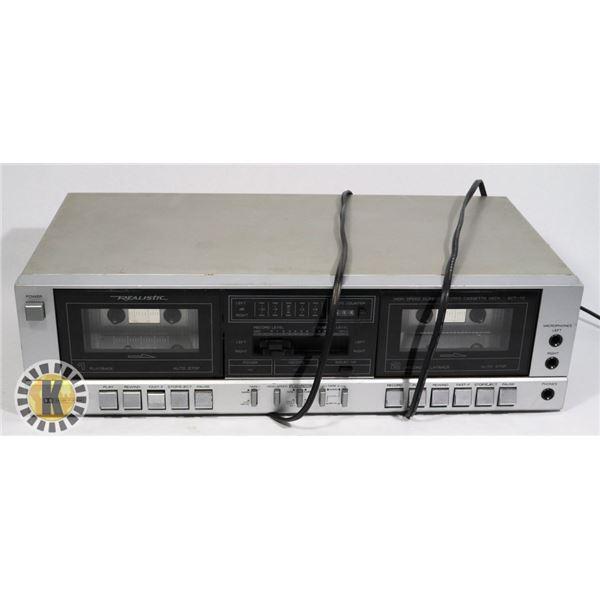 SONY DUAL CASSETTE DECK- MODEL TC-W550