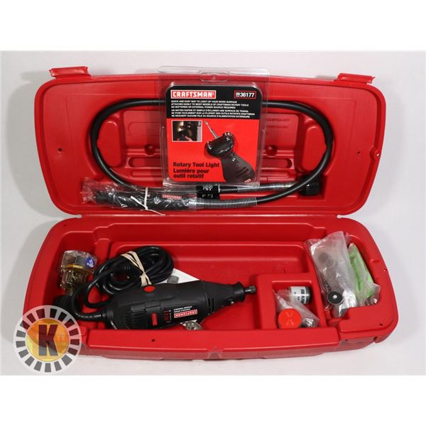 CRAFTSMAN ROTARY TOOL SET IN CASE