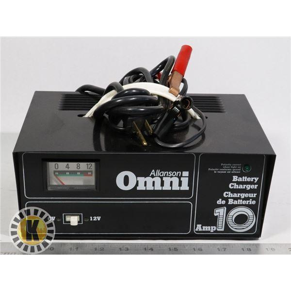 ALLANSON OMNI 10 AMP BATTERY CHARGER; 612B1010-1