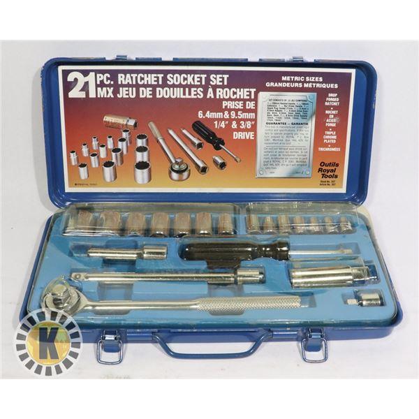 21 PC. RATCHET SOCKET SET