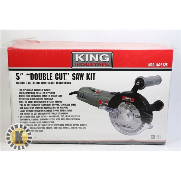 """ESTATE KING INDUSTRIAL 5"""" DOUBLE CUT SAW KIT"""
